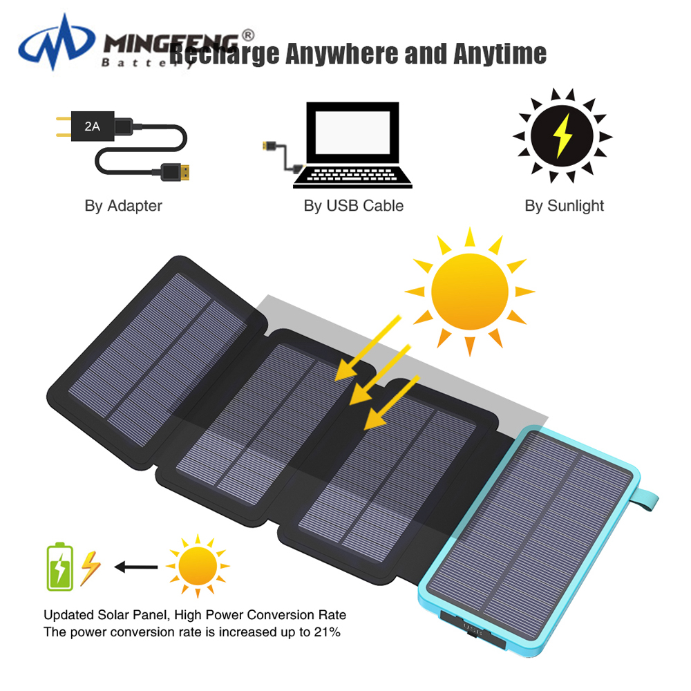 Universal high quality factory price solar power bank 8000mah powerbanks