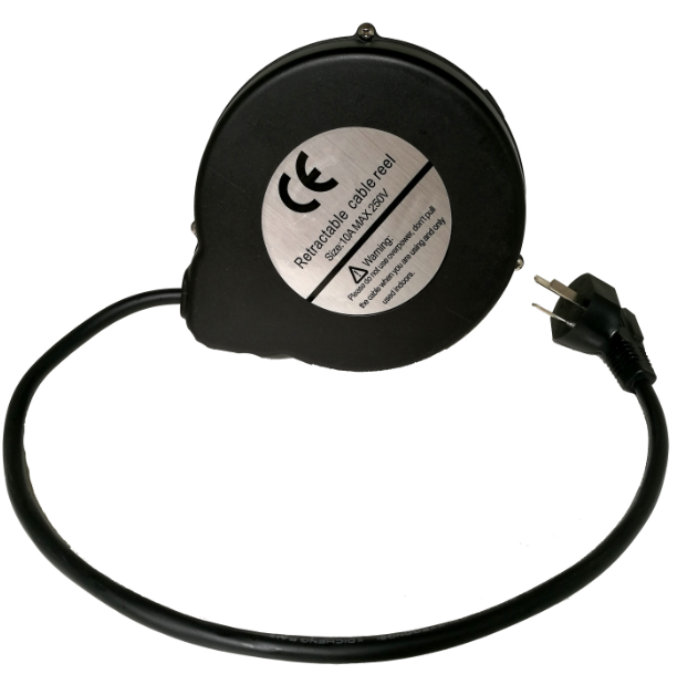 Spring Loaded Extension Power Cord Reel Retractable Cable