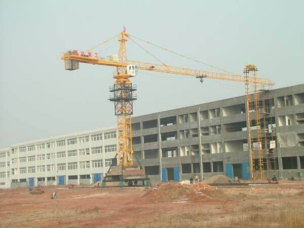 3t-25t mobile tower crane Track traveling type tower crane