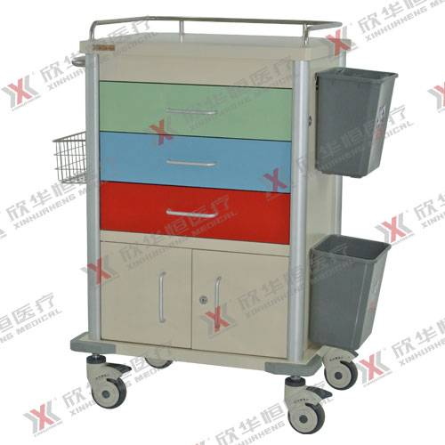 colored medical trolley