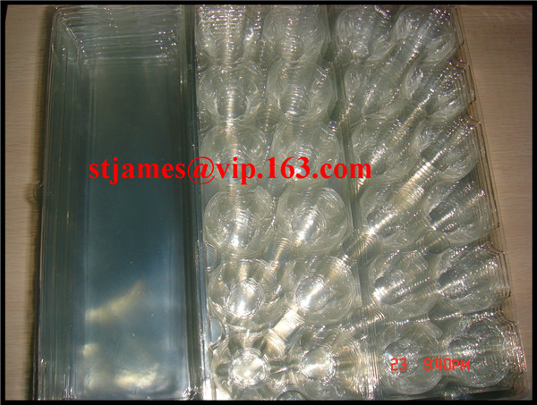 Sales Promotion Economical strong PVC 12 cavities Tri-fold Egg Pack