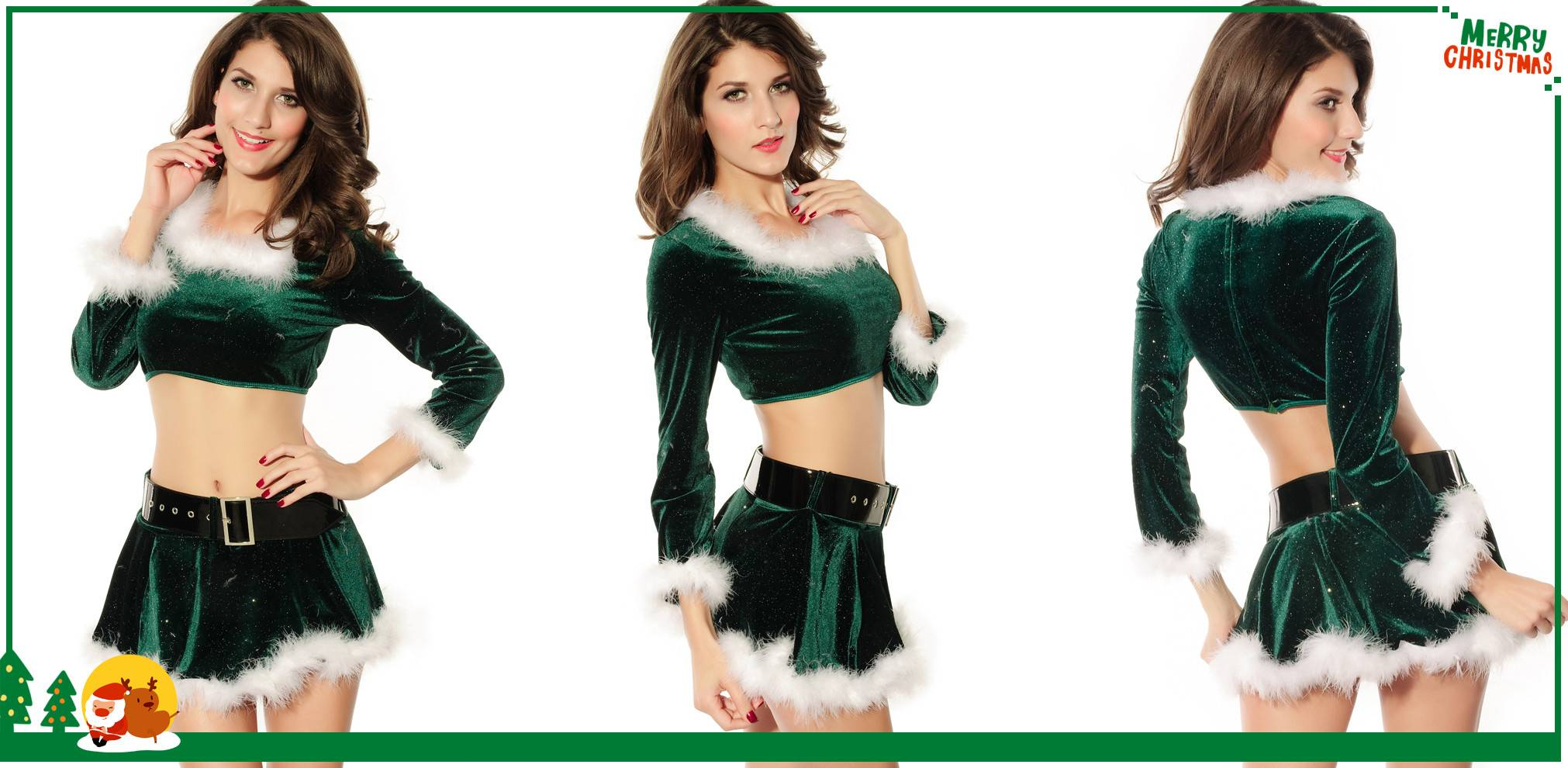 Elf Top with Marabou christmas costumes