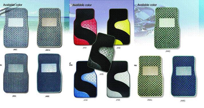 USA Premium Velour needle punch car carpet floor mat (550g/m2 +backing:2.2mm grabber nib)