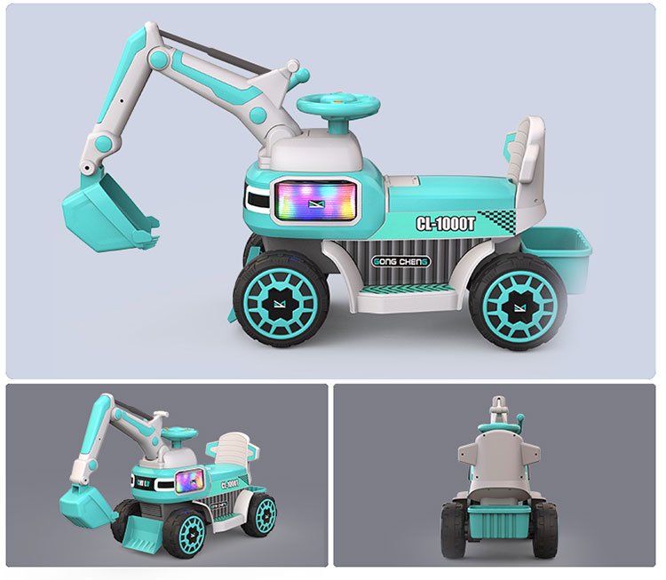 new design rechargeable battery power popular toy electric kid navvy car