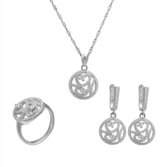 Fancy Bijoux Sterling Silver Jewelry Set Global Wholesale