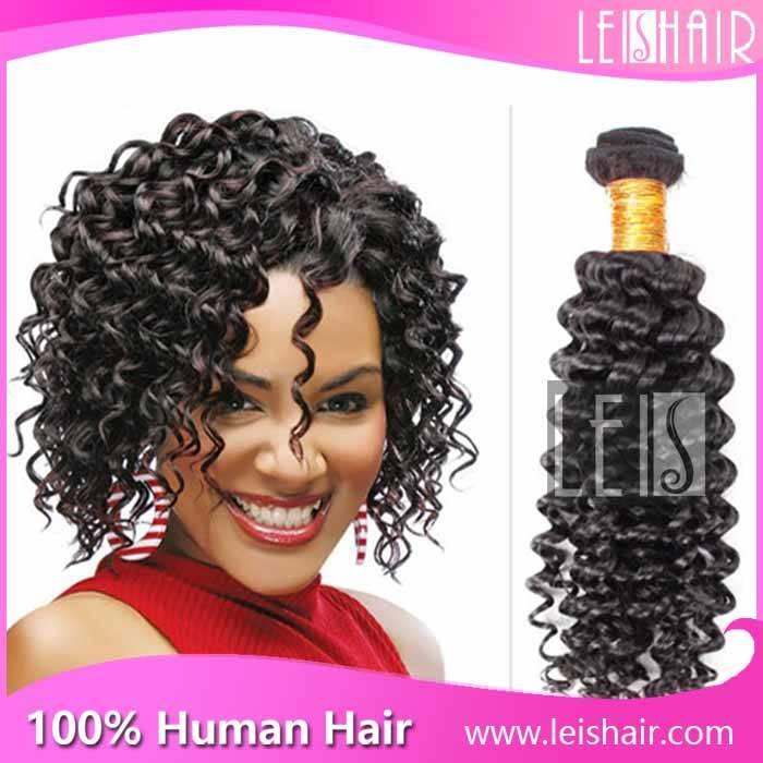 Cheap price grade 5a virgin brazilian deep curly hair weave