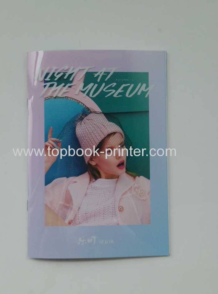 Soft cover bound book with transparent PVC dust jacket printing on demands