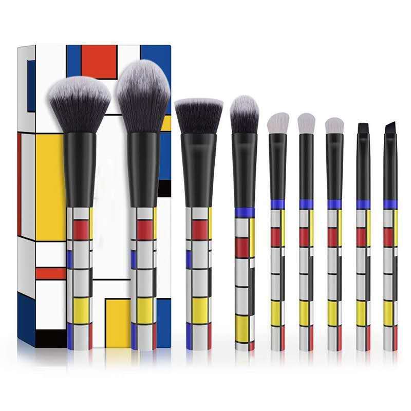 9PCS Magic Tube Makeup Brush Set, Synthetic Hair, Plastic Handle