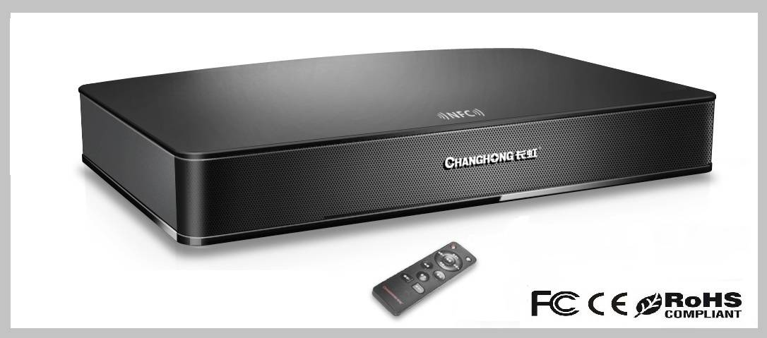 Sound bar home theater music system with bluetooth and subwoofer