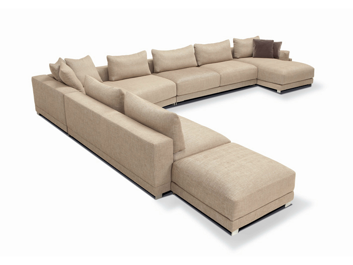 Vivid and great in style l-shape sofa set modern sectional sofa