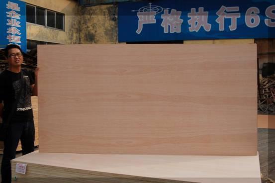 teak faced fancy plywood
