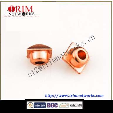 Alloy rivet 6MM HVB Imi gold/HVB rose gold square tower shaped fashion metal button