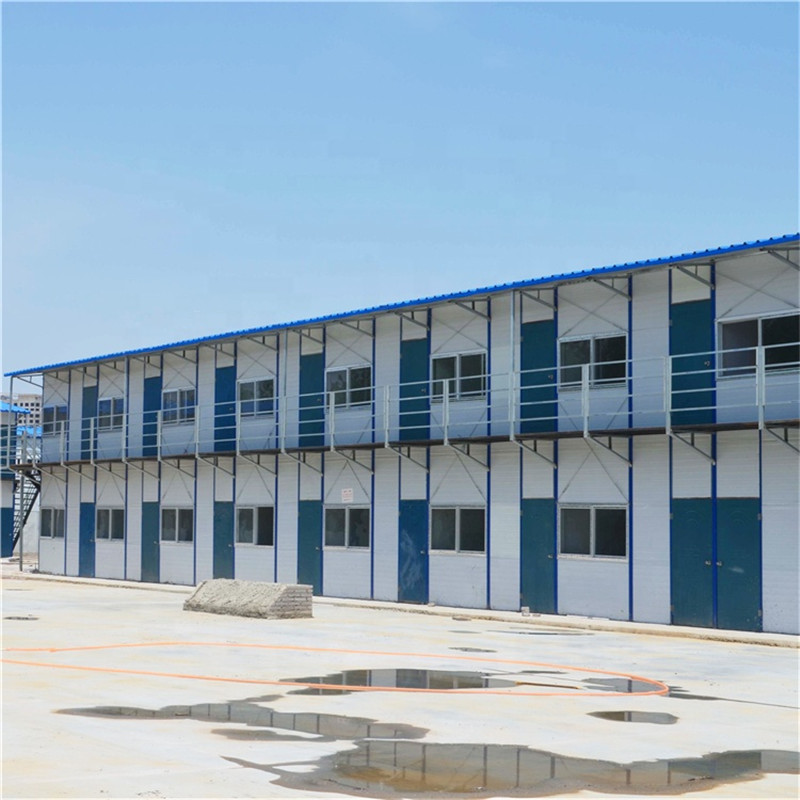 Low Cost PU/Rock Wool/Glass Wool Container Camp House
