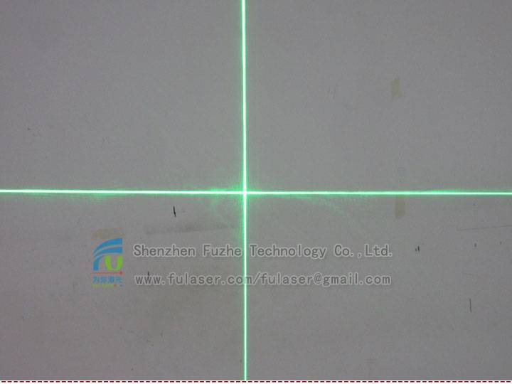 FU520C30-BD22 520nm 30mw cross line laser module,not 532nm
