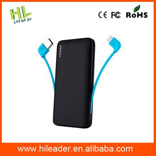 Top level new products silicon horn wired power bank