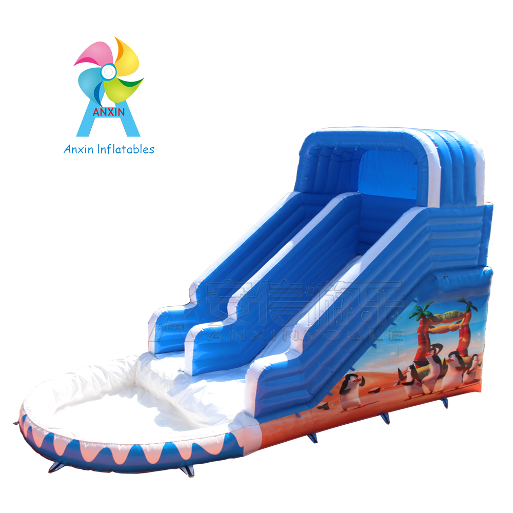 new water park inflatable water slide n slid with swimming pool for kids playing
