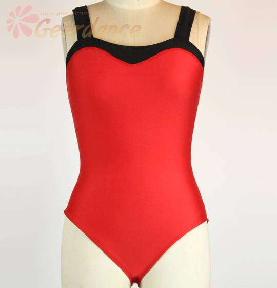 Assorted color inserted front adult ballet leotard, dance leotard 15C1006