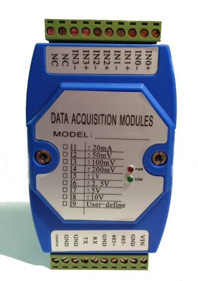 2-CH 0-10V to RS232 with modbus RTU