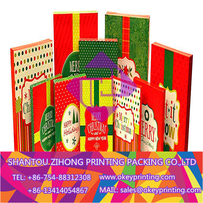 printing color Christmas gift box