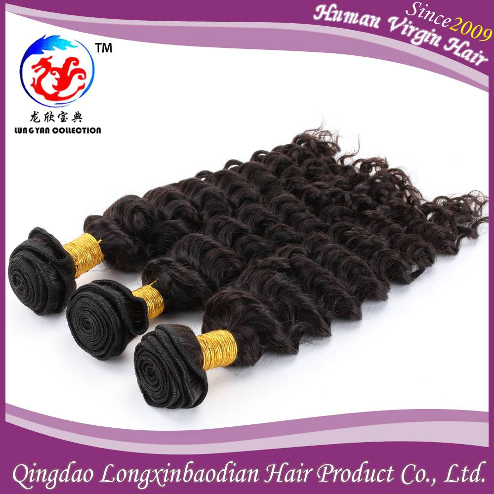 14 Inch Natural Color 2015 Best Selling Products Wholesale Price Deep Wave Brazilian Human Hair Weav