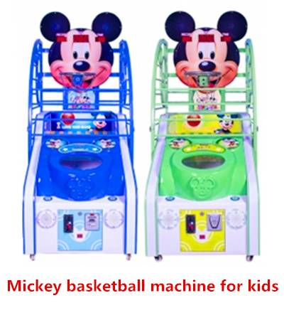 Mickey Face - Coin Operated Amusement Park Kids Basketball /Arcade Game Lottery Machine