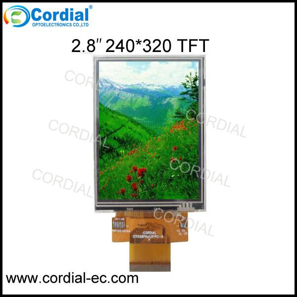 2.8 inch 240x320 TFT LCD MODULE with resistive touchscreen CT028PHJ13