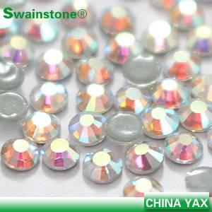 Rhinestones crystal ab flatback;crystal rhinestone ab flatback;ab rhinestone crystal flatback for cl
