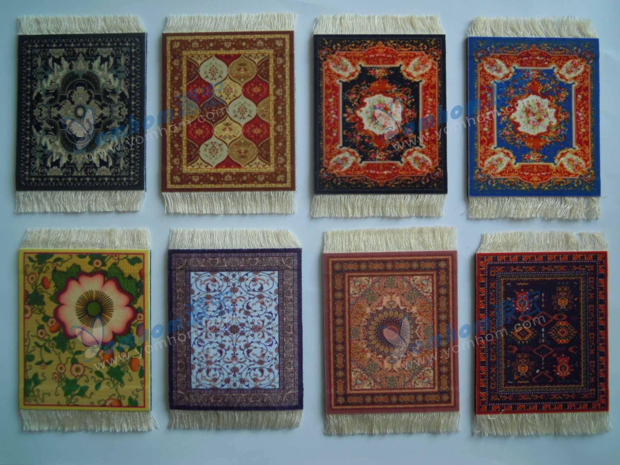 oriental persian rug coaster pads/mats