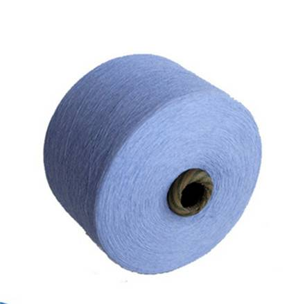 China suppliers recycle cotton yarn 30s/2 dyed color for knitting