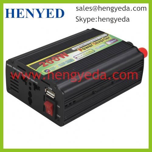 200W car power inverter with USB socket MINI type(HYD-200WMU)
