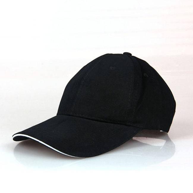 Black Cotton Baseball Caps for Men