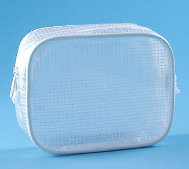 Promotional waterproof PVC mesh bag with zipper top