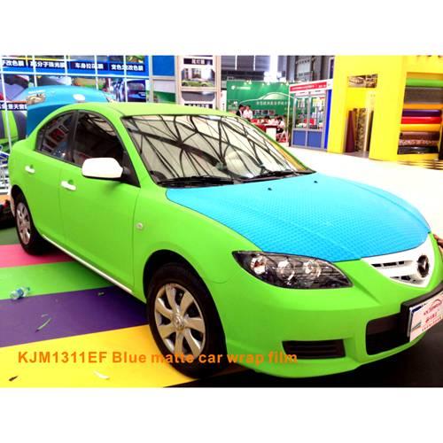 Polymeric matte green car wrap film