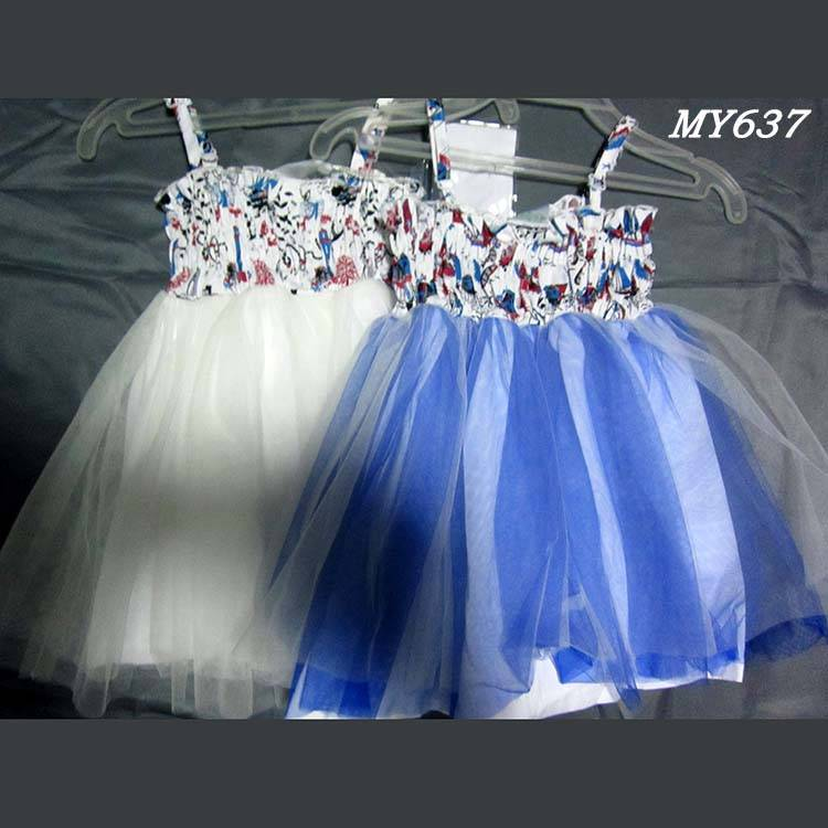 Floral dresses kids wear bridesmaid dresses flower girls western dress designs with elastic