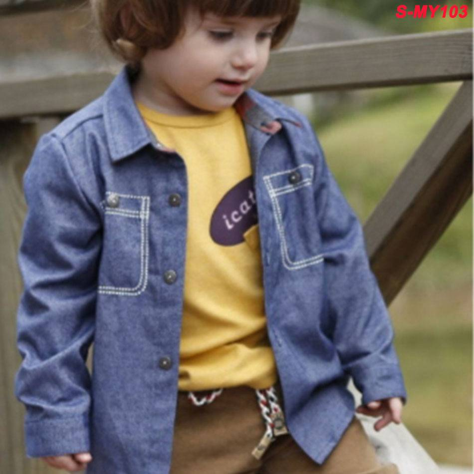 Fashion casual cowboy T-shirt children's clothing for boys