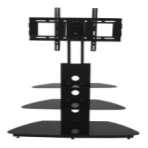 convenient black tv stand