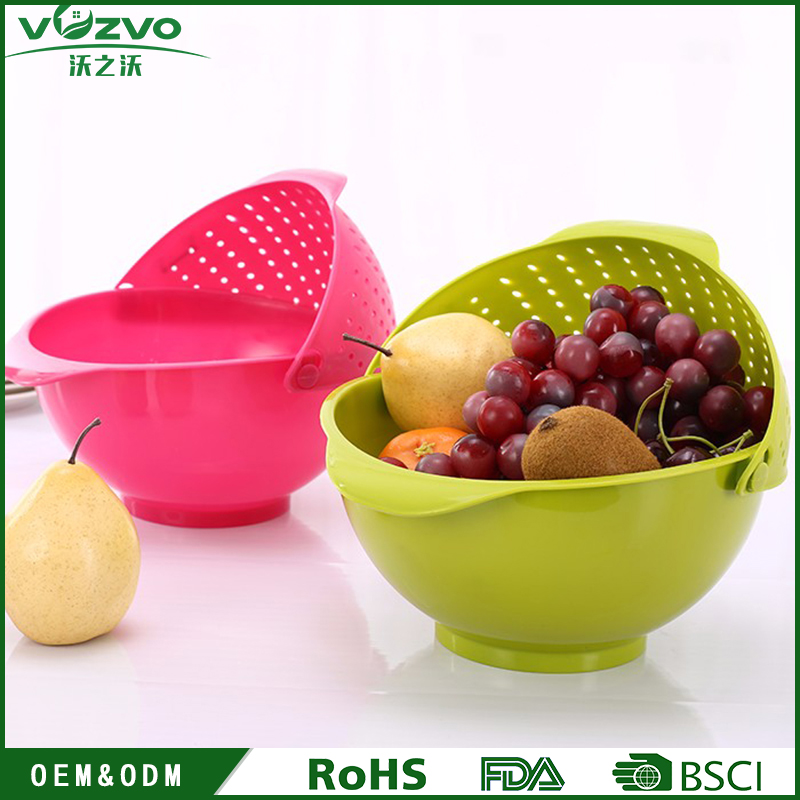 Kitchenware Plastic Vegetables Fruit Basket Colander