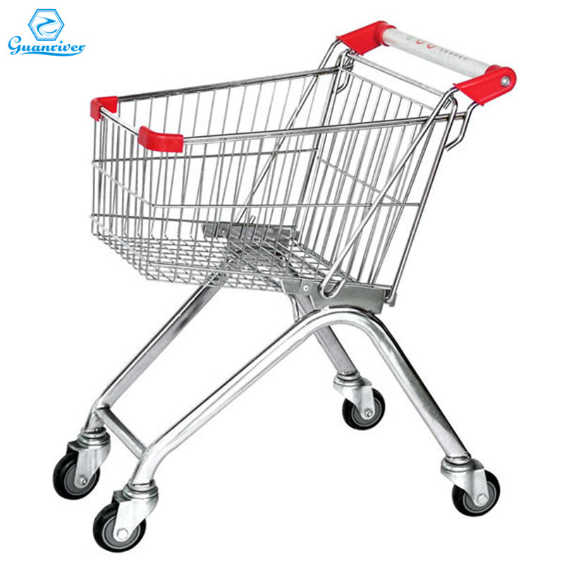 High quality customized Europe supermarket shopping trolley cart