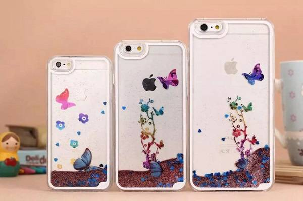 Butterfly Quicksand Phone Case