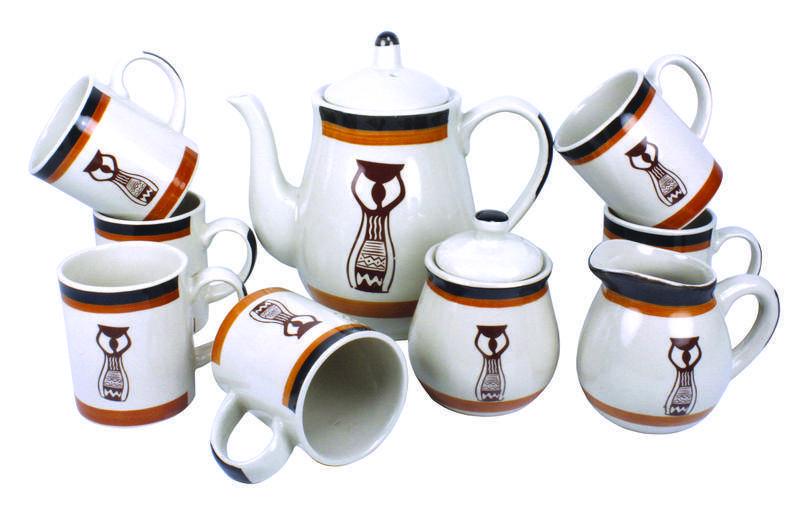 11pcs handpainted tea and coffee sets