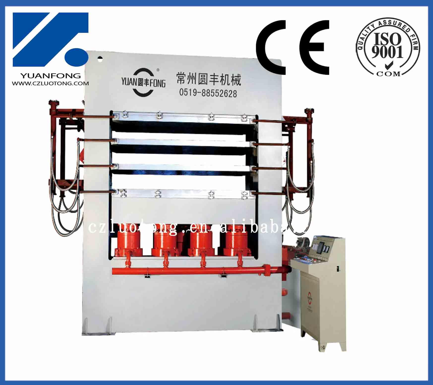 Economic wood laminate flooring short cycle lamination press machine