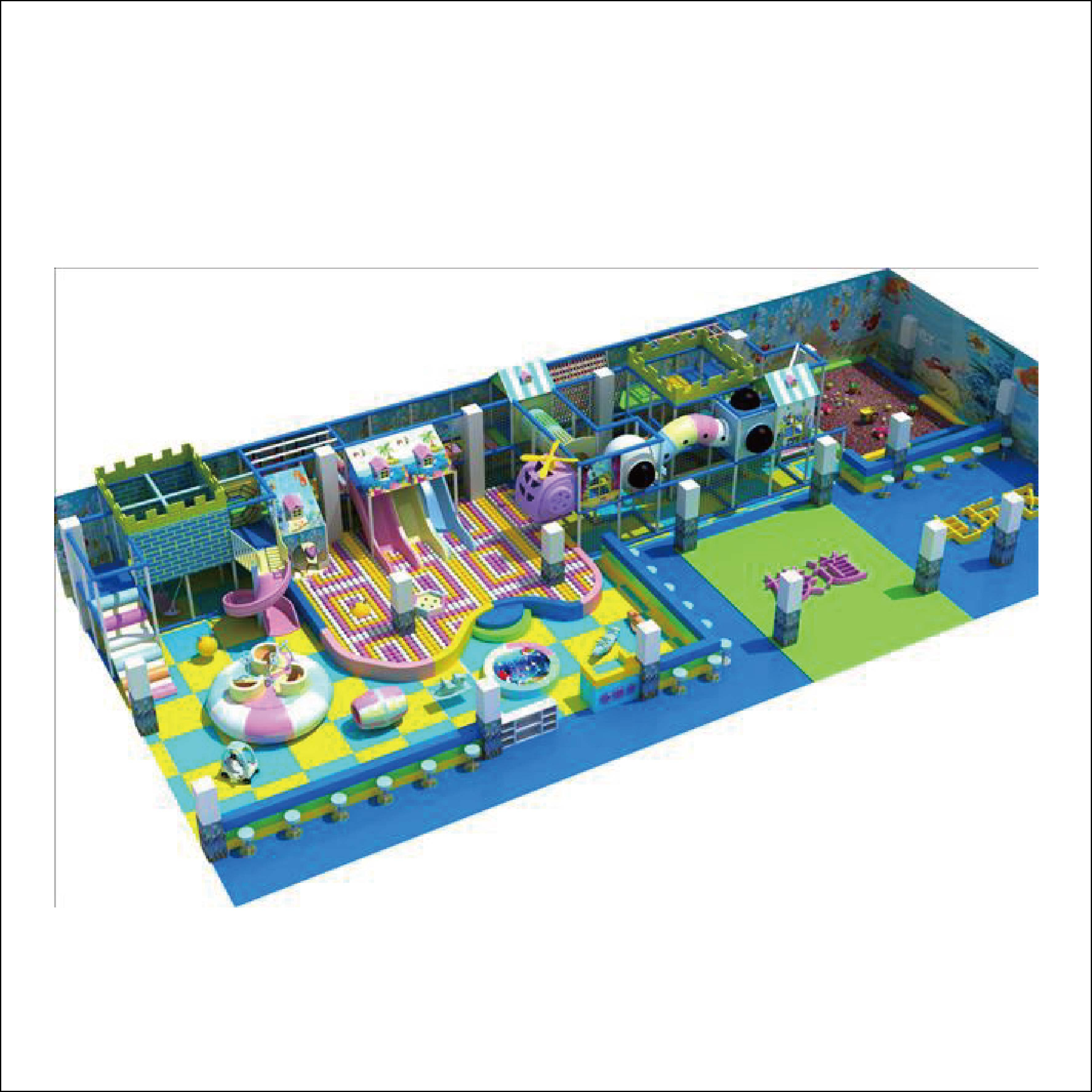 HLB-15019 Shopping Centre Kids Playground Mall Play Area Equipment