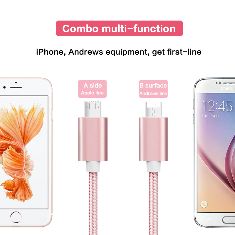 Original Quality High Speed Micro USB Date Charger Cable 1m Data With Braided Fast Charger Cable For