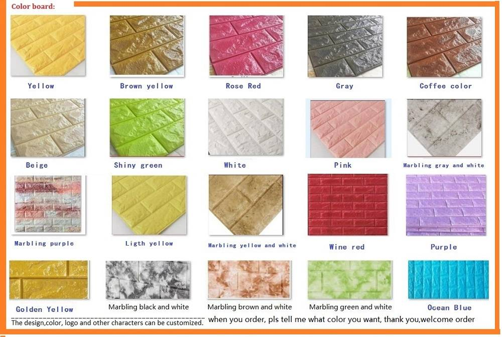 Long lasting Ahesive XPE Foam Sticker Kitchen Moisture-proof Wall Bricks Sticker