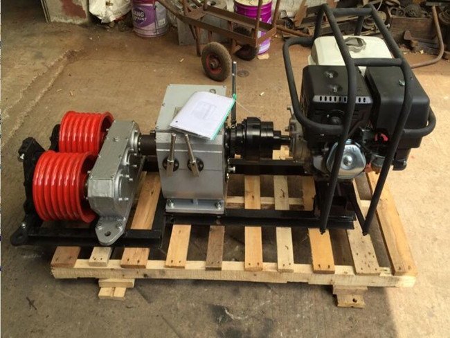Double Drum Engine Powered Winch