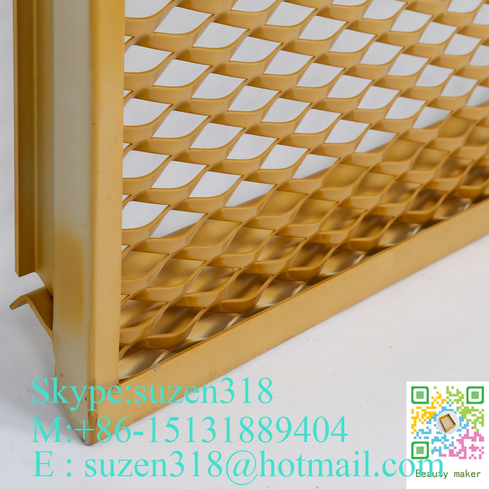 Decorative Stretched Aluminum Expanded Metal Mesh for Building Facade