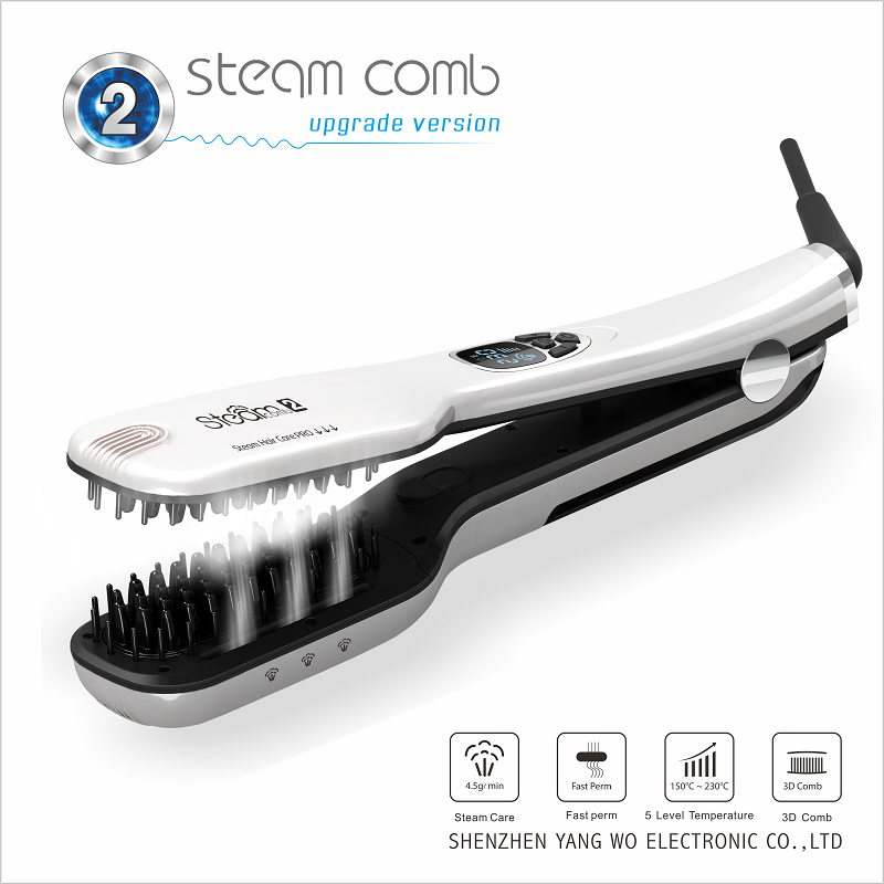 China maigic steaming hair straightening hair brush comb with CE ROSH Certificated