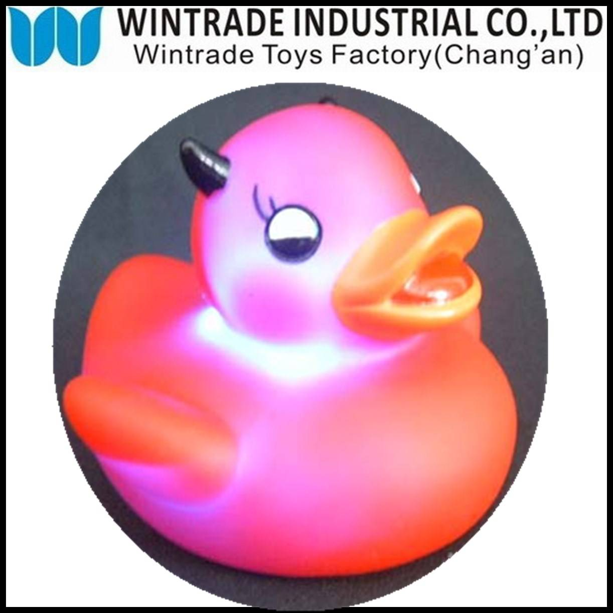 LED rubber bath duck baby toy
