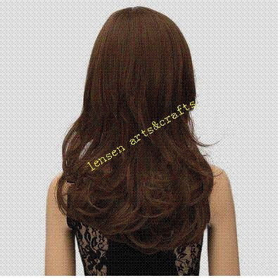 Europ 50cm dark brown long hair wig