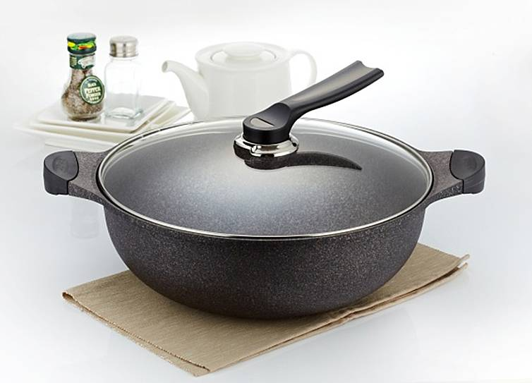 Marble Coating Double Handled Wok